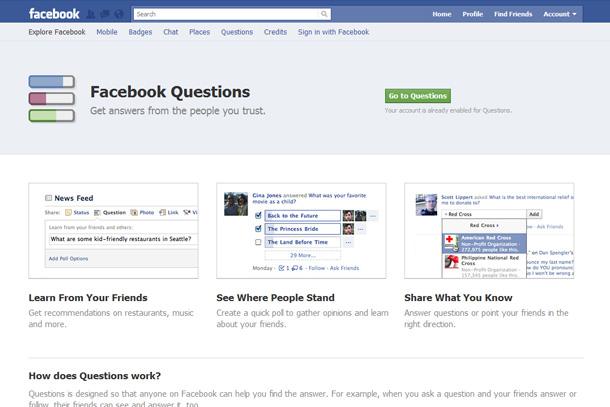 Facebook Questions - още един инструмент за качествен интернет маркетинг