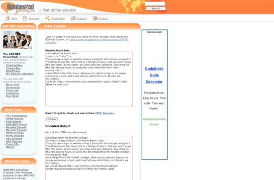 HTML Encoder