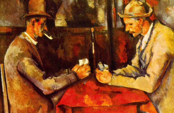 Cezanne's Card Players на Bernie