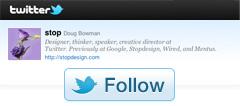 "Twitter бутона ""последвай ме"""