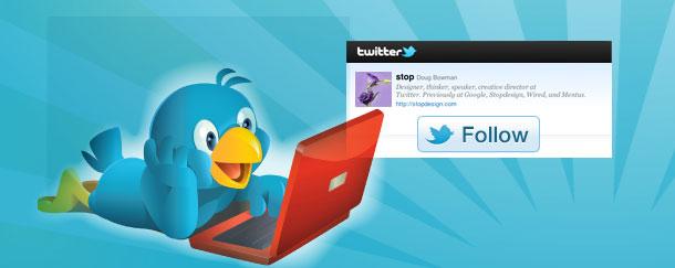 """Twitter пусна """"последвай ме"""" бутон за уеб сайтове"""